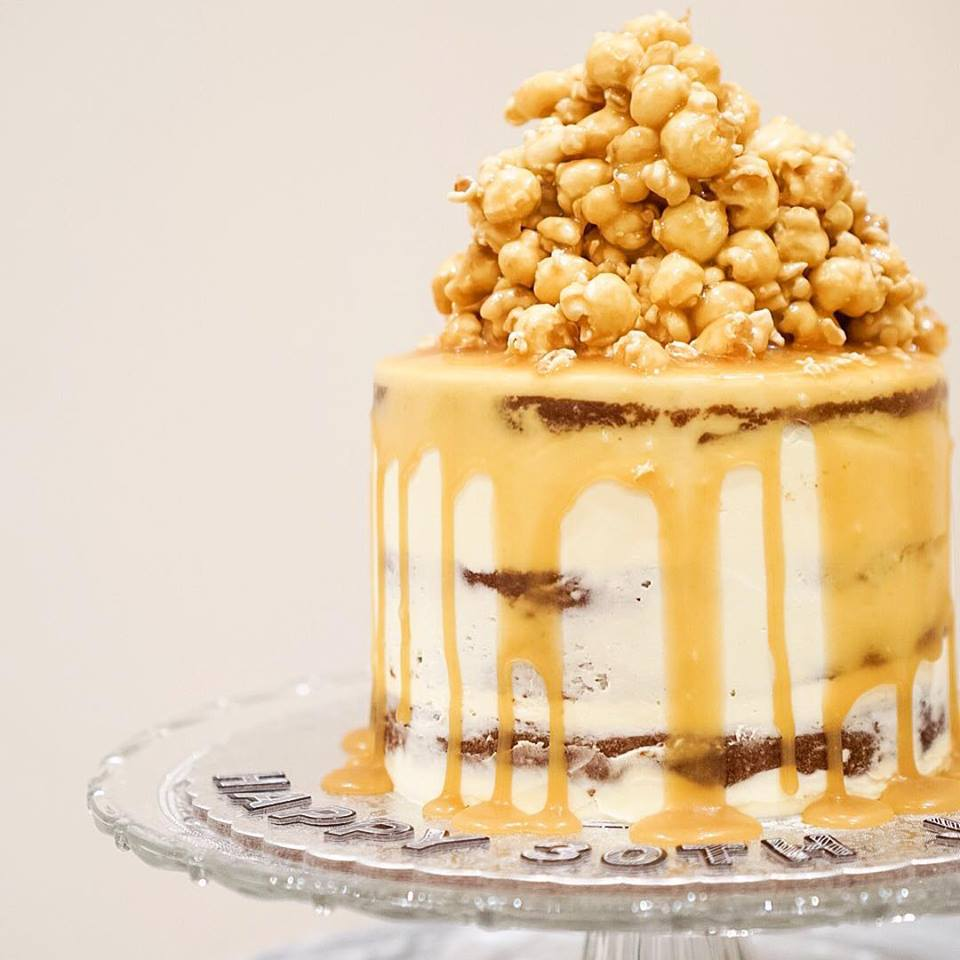 REMEMBER THIS SALTED CARAMEL POPCORN CAKE THAT SENT THE PERTH COLLECTIVES INSTAGRAM INTO MELTDOWN WITH LIKES AND COMMENTS ON FRIDAY
